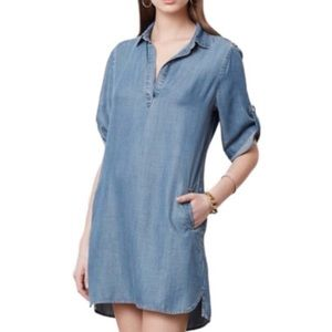 PHILOSOPHY blue chambray shift dress XXL